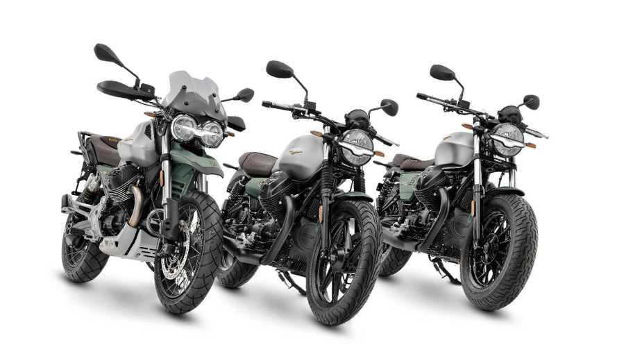 Moto Guzzi V7, V9 e V85 TT con Livrea Centenario