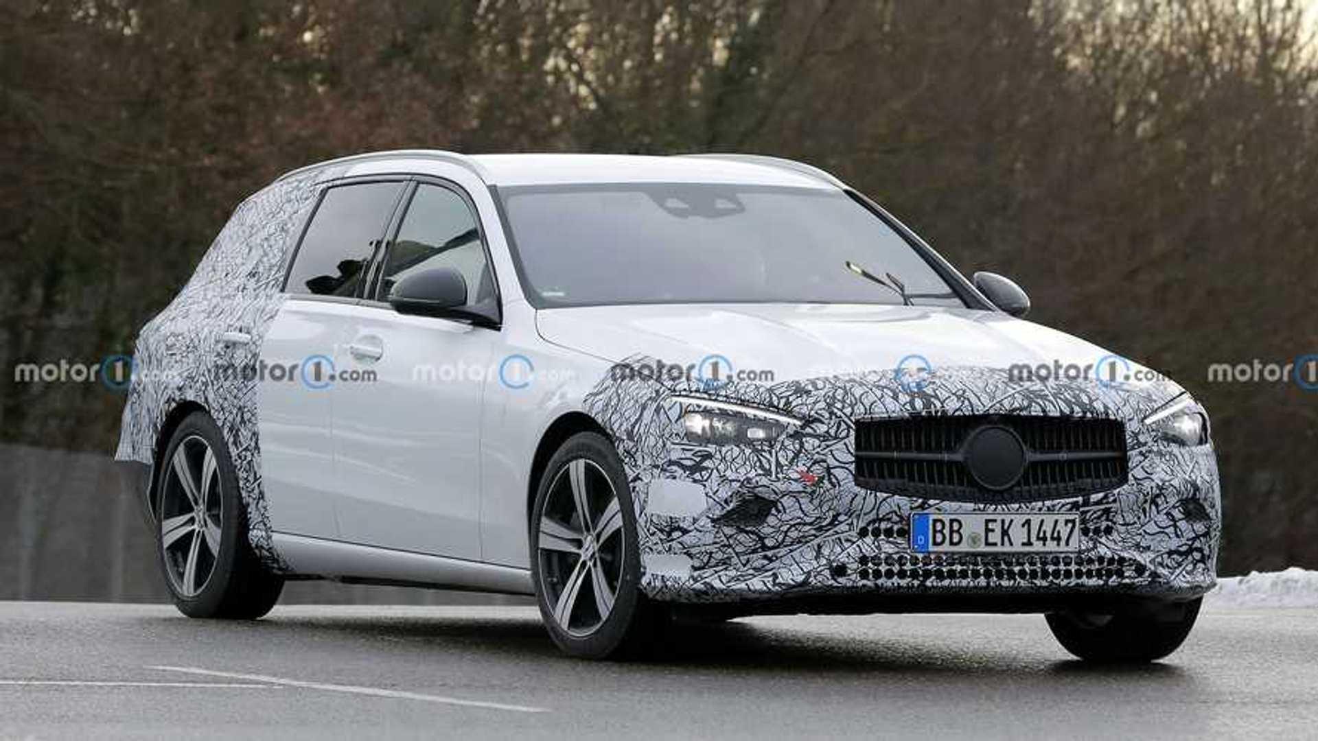 Mercedes C-Class Estate Spied Making Public Appearance In Stuttgart