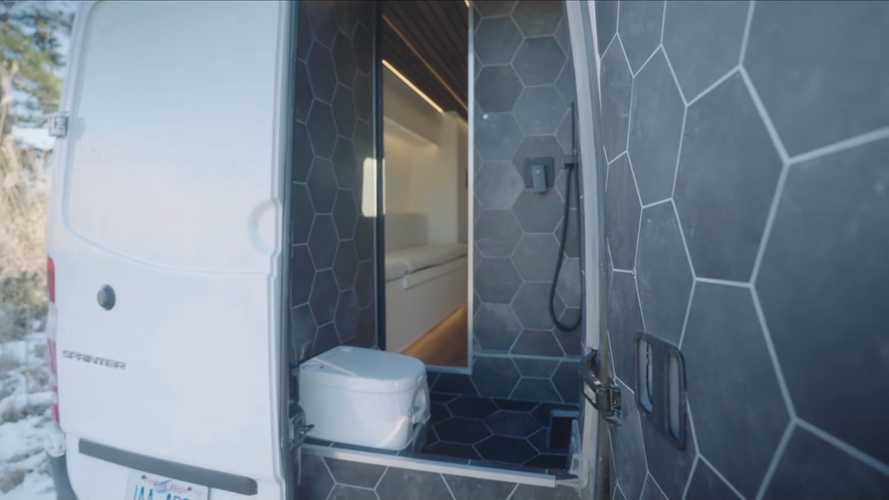 Make It Rain: This Custom Camper Van Packs A Massive Shower Inside
