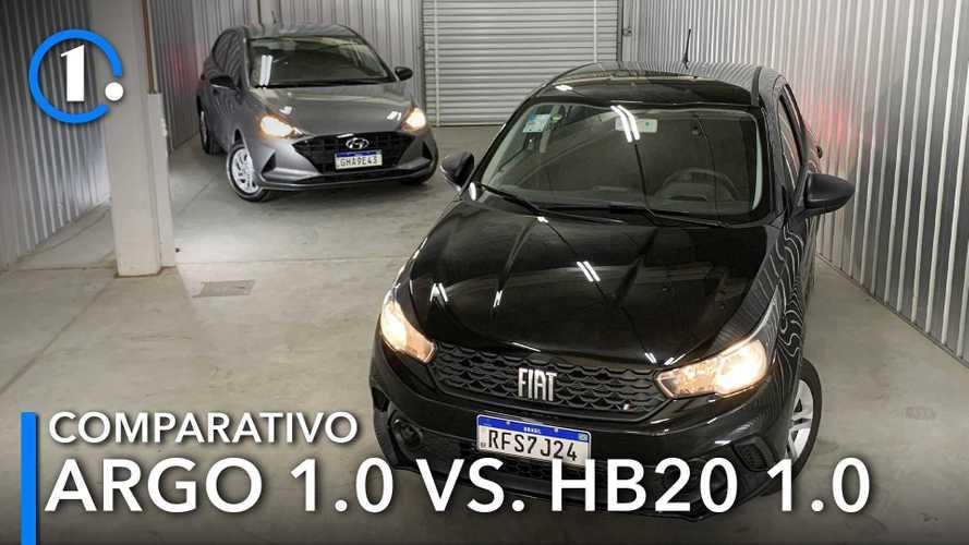 Comparativo: Fiat Argo 1.0 e Hyundai HB20 Sense duelam pelos órfãos do Ka