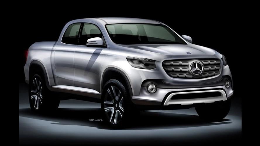 """Informes da picape Mercedes: três versões, kit AMG e batismo """"Classe X"""""""