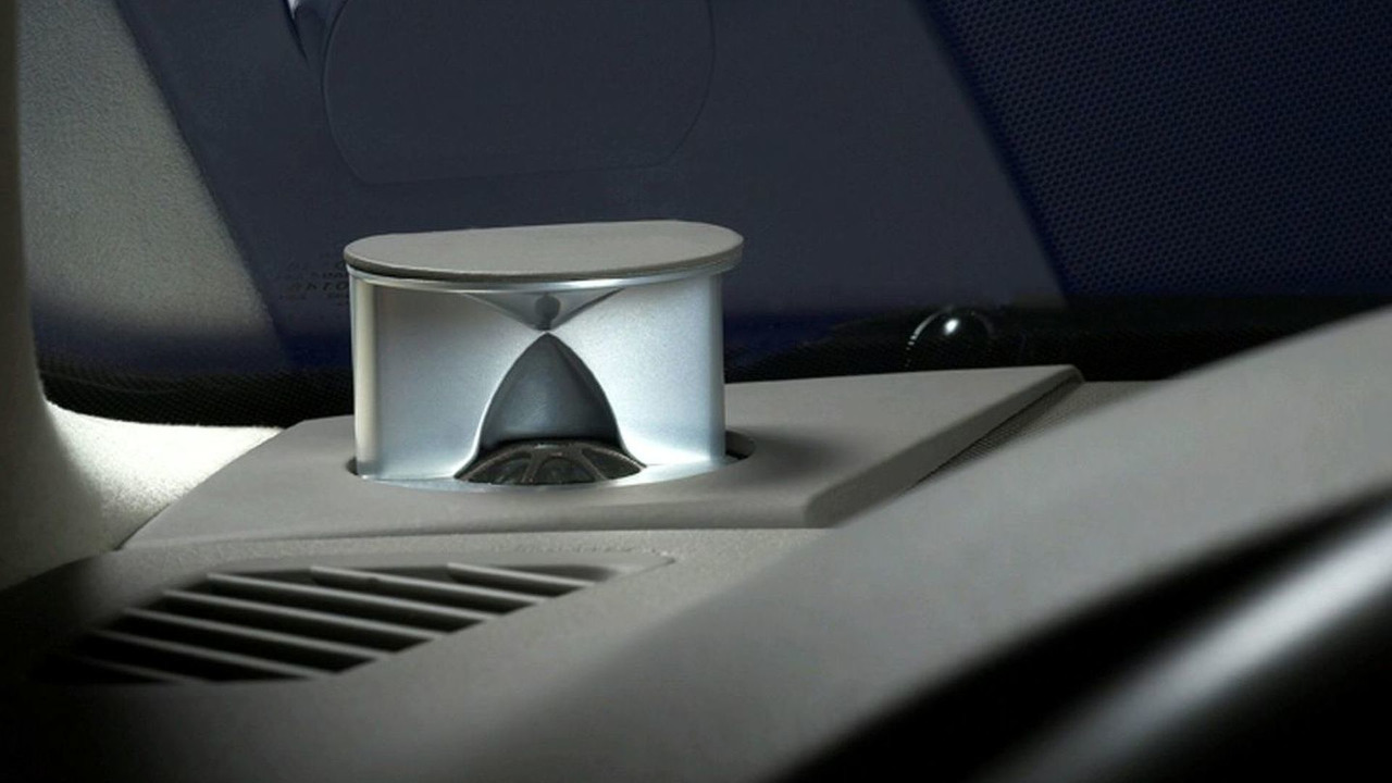 Part of the B&O sound system in an Audi A4
