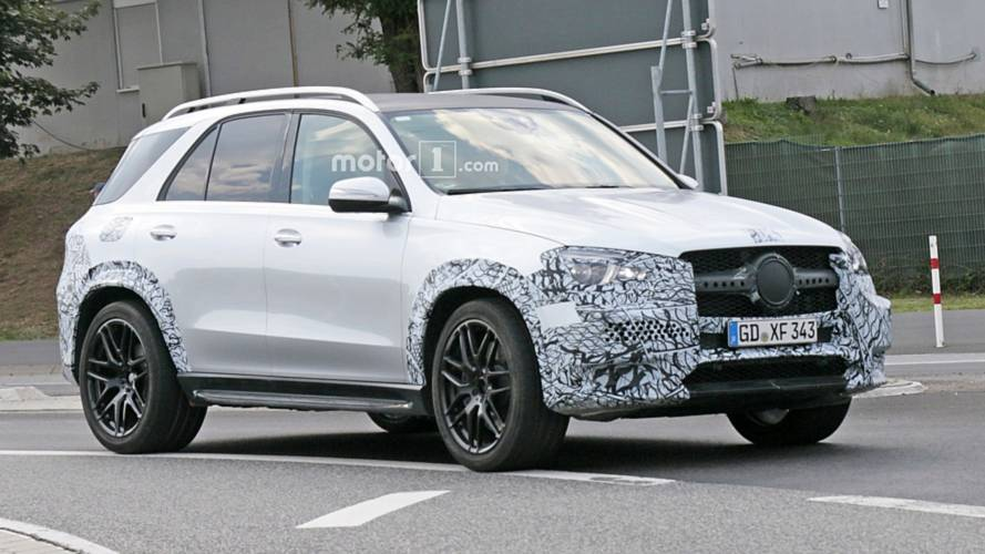 Mercedes-AMG GLE 53 Spied Showing Off Quad Round Exhaust Tips