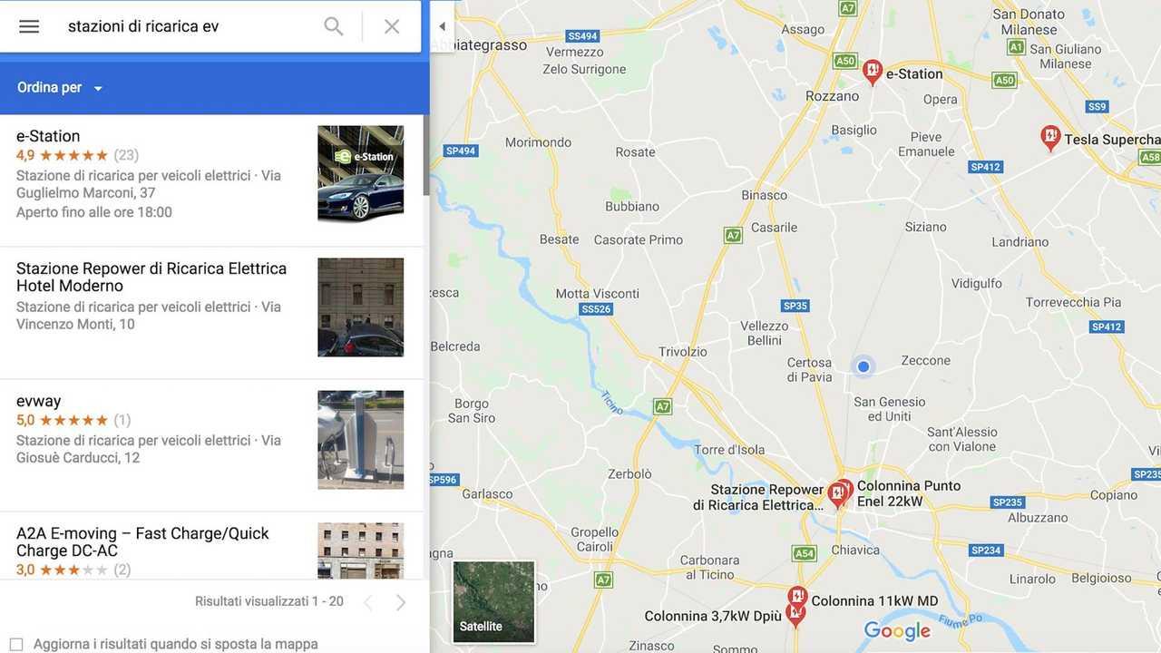 colonnine-google-maps