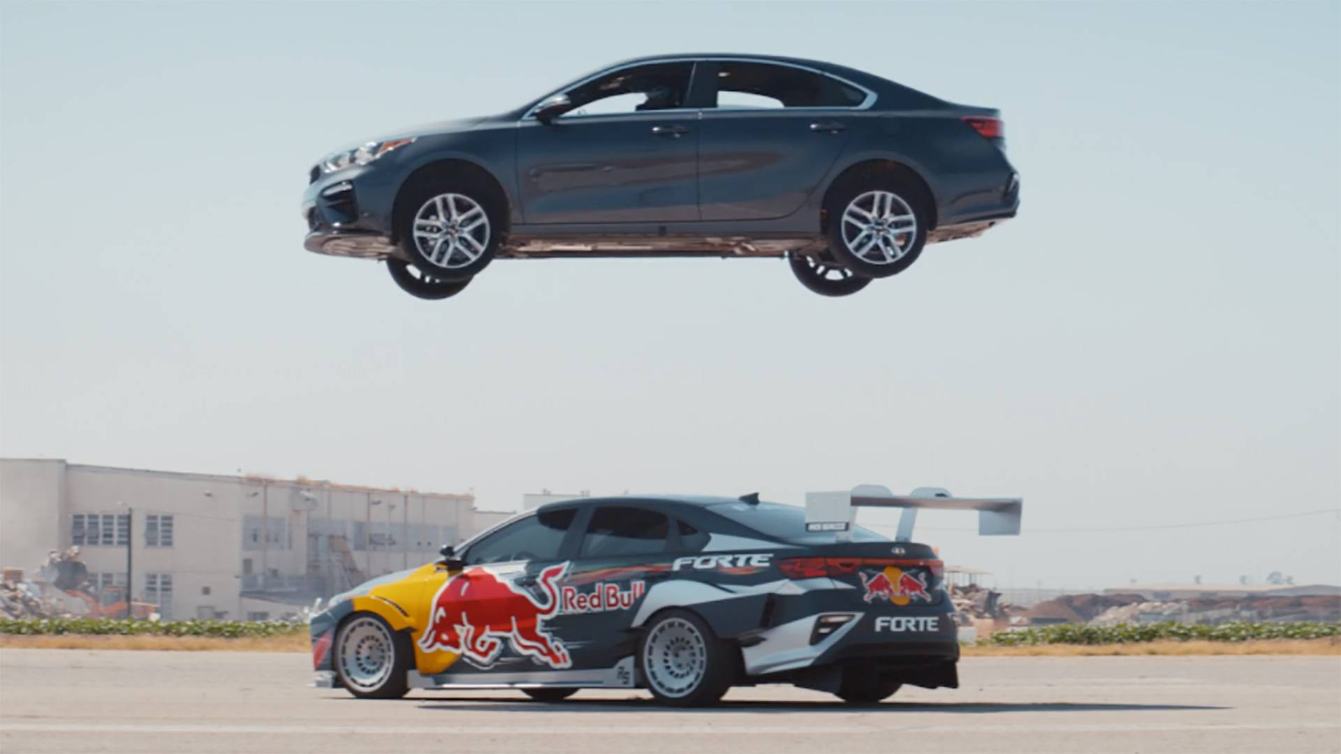 Watch A 2019 Kia Forte Jump Over A Forte Race Car In New Ad