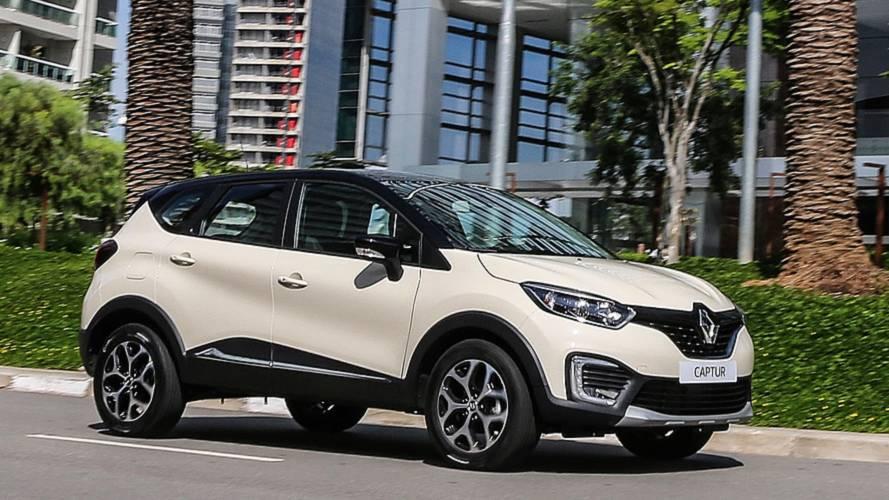 SUVs compactos em junho: Renault Captur bate recorde e supera Honda HR-V