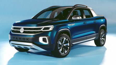 VW Tarok Concept Revealed As Pickup With Transforming Bed