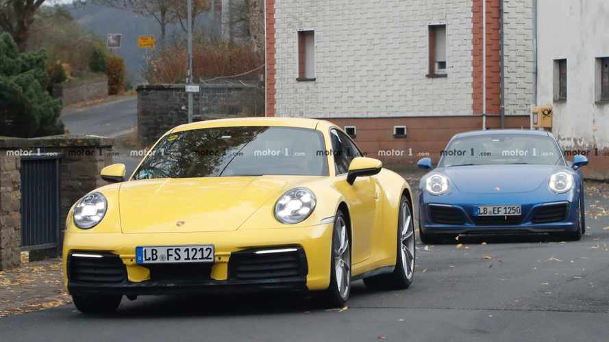 2020 Porsche 911 Spied Cruising With Current-Generation Model