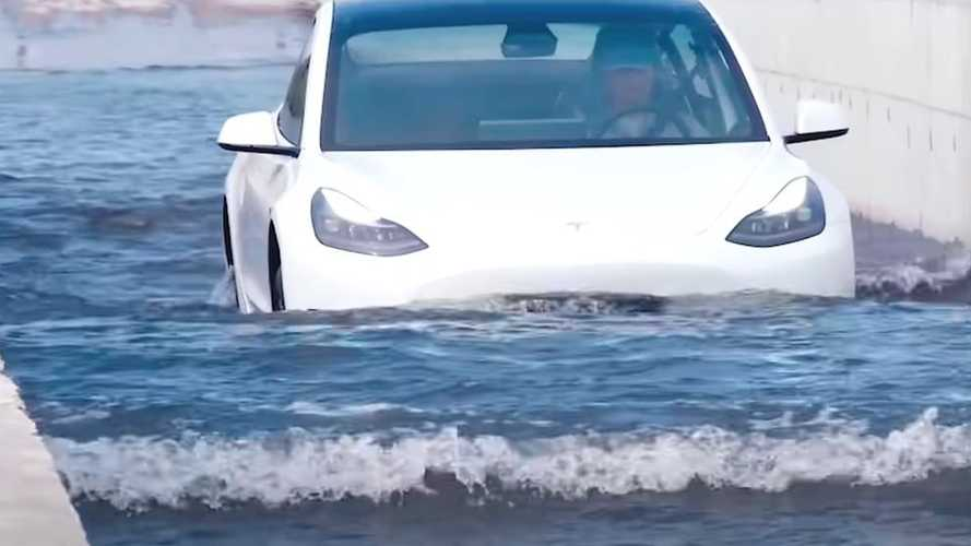 Tesla Model 3 Handles Flooded Streets In China Like A Boss
