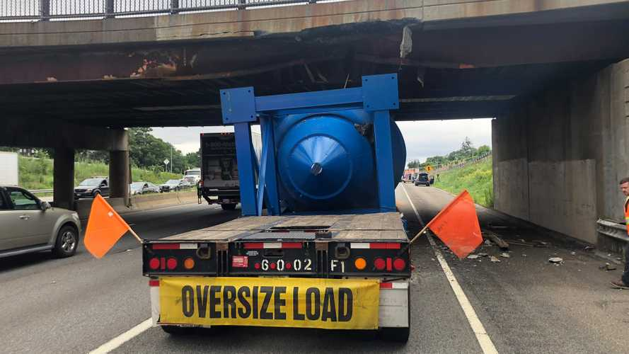Another Tractor-Trailer Truck With Too-Tall Load Smashes Into Bridge