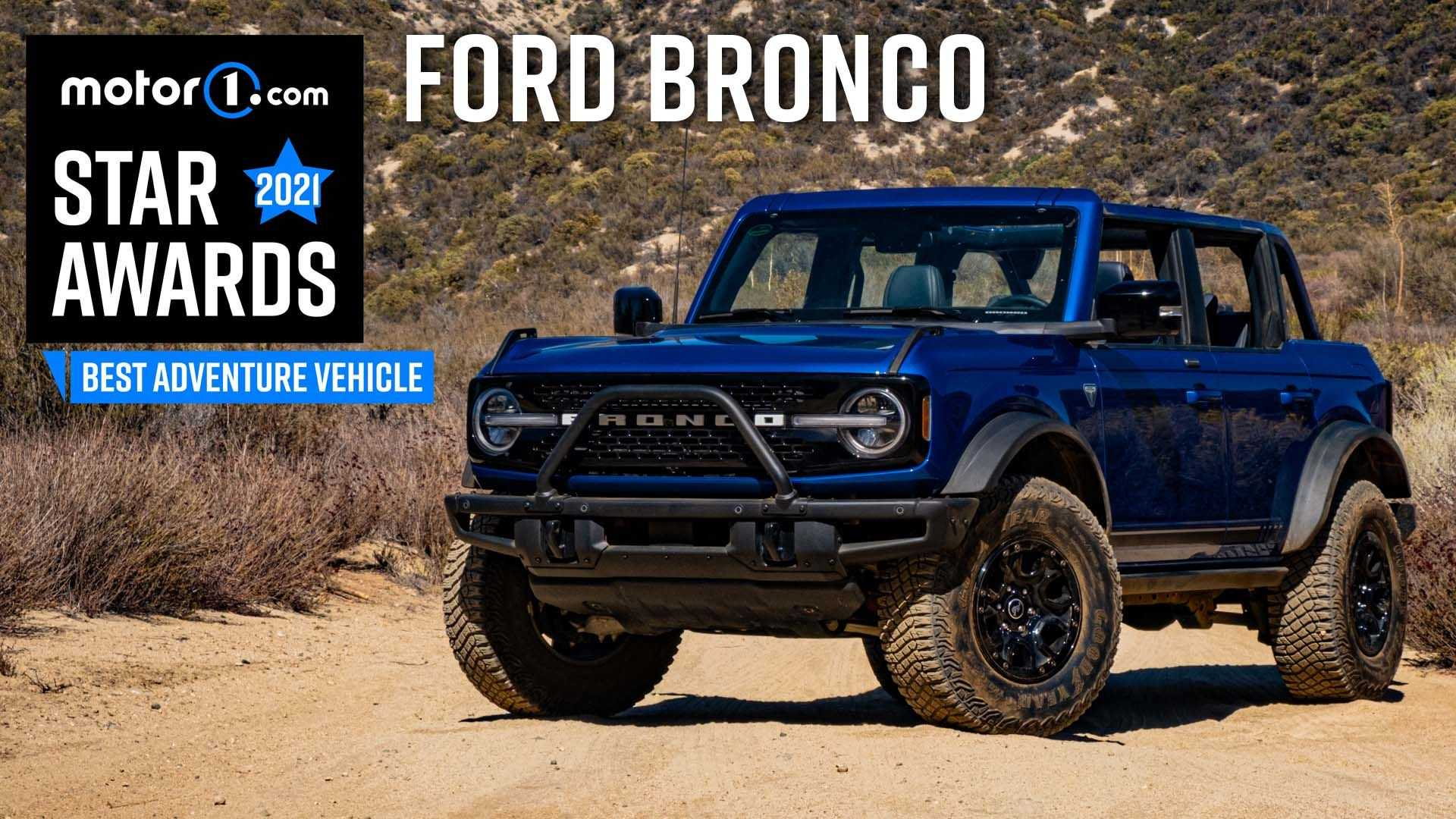 Ford Bronco Wins Motor1 Star Award For Best Adventure Vehicle