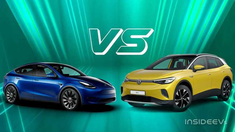 Tesla Model Y contro VW ID.4: l'americana e la best seller