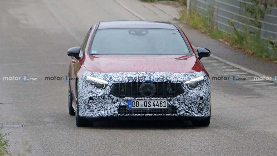Mercedes-AMG A35 facelift spy photos