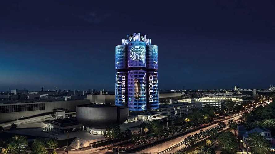 BMW Munich HQ Lightshow Presents Brand's Transformation