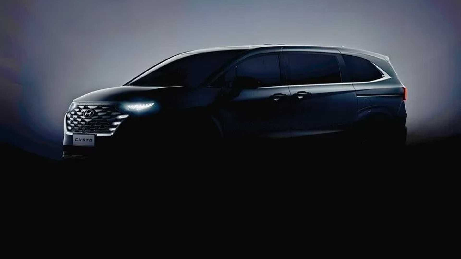 2022 Hyundai Custo Minivan Teased With Unconventional Styling