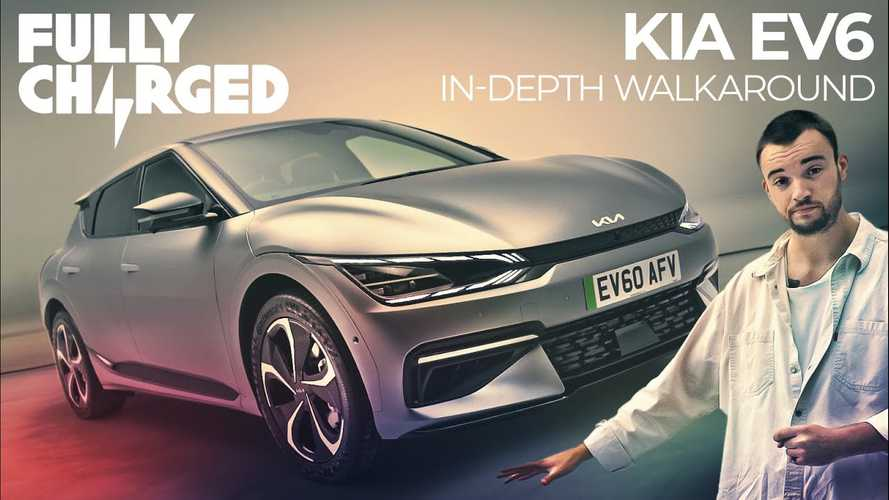Watch Fully Charged do a detailed Kia EV6 walkaround