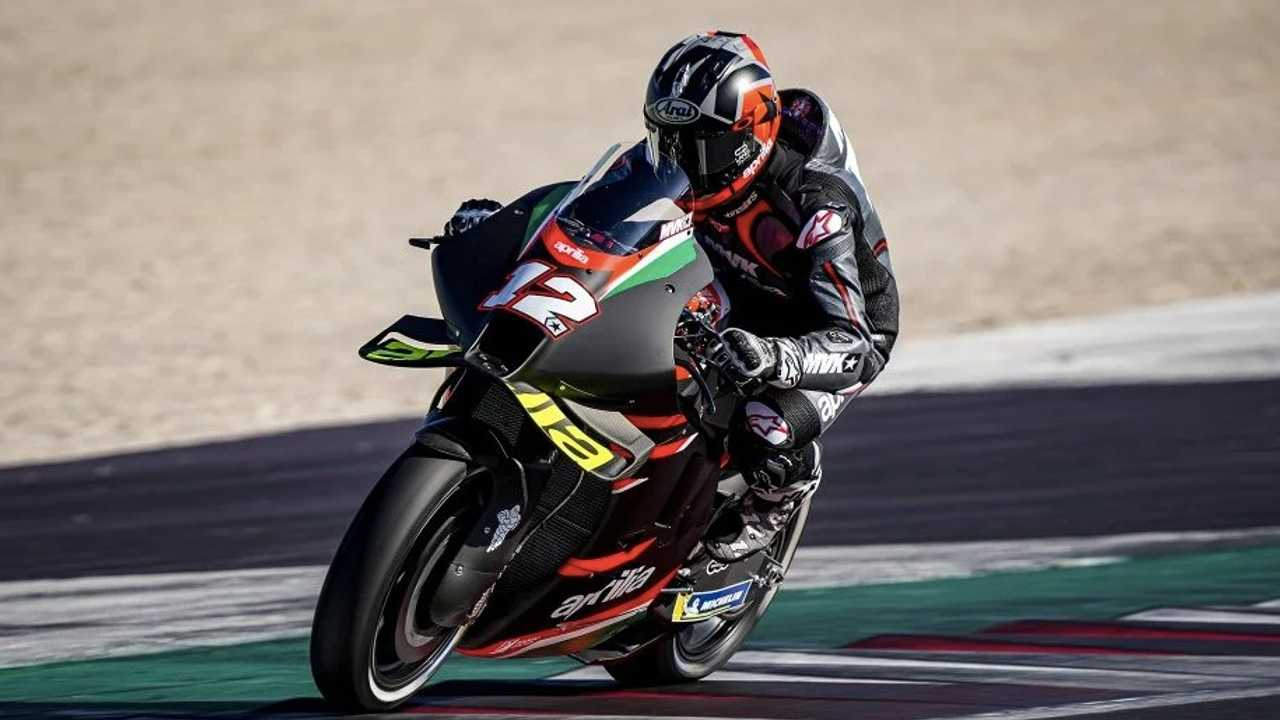 Viñales Runs Aprilia RS GP Through Its Paces For The First Time