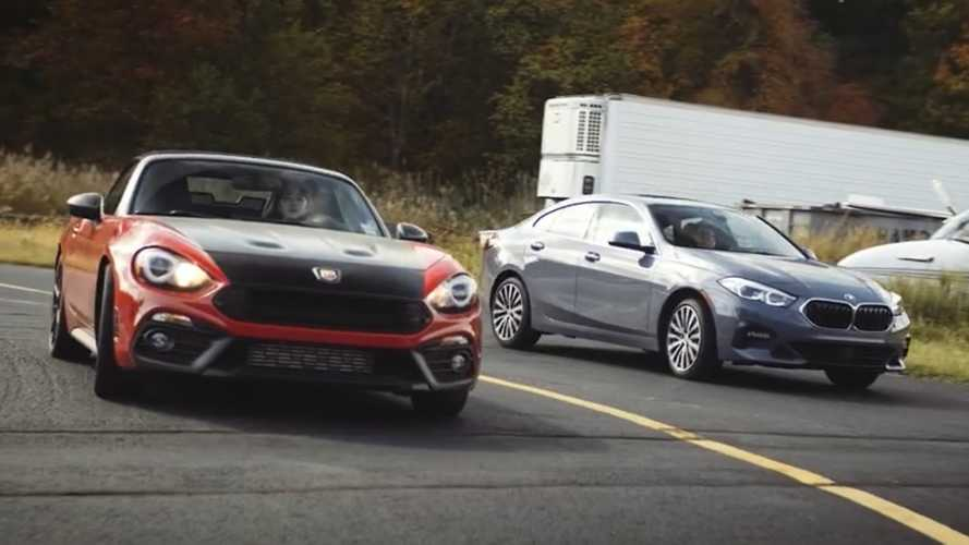 BMW 2 Series Gran Coupe Fights Abarth 124 In Unexpected Drag Race