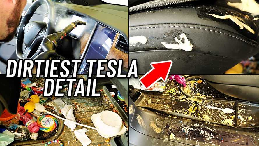 """""""Dirtiest Tesla Model X"""" Looks Brand New Again After Deep Cleaning"""