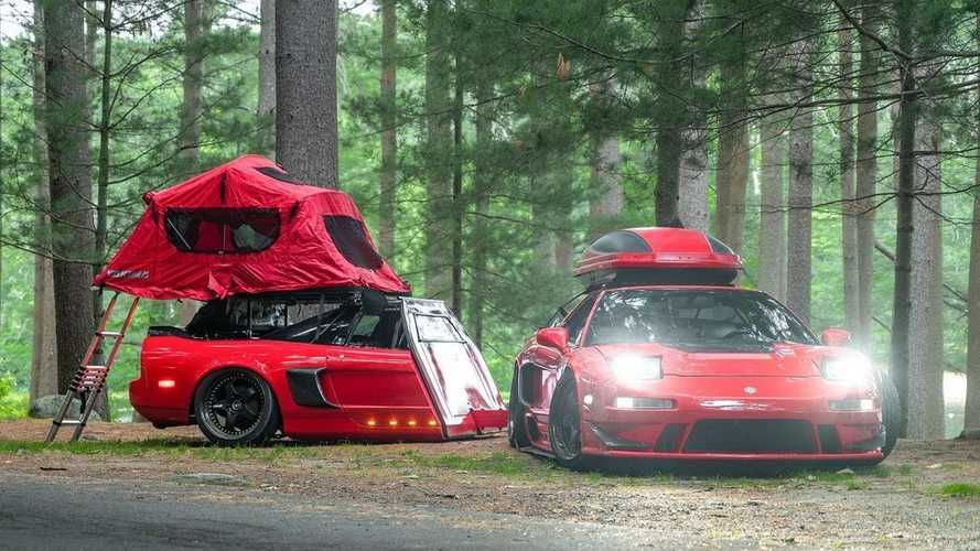 Honda NSX with matching trailer made from actual NSX is winning at life