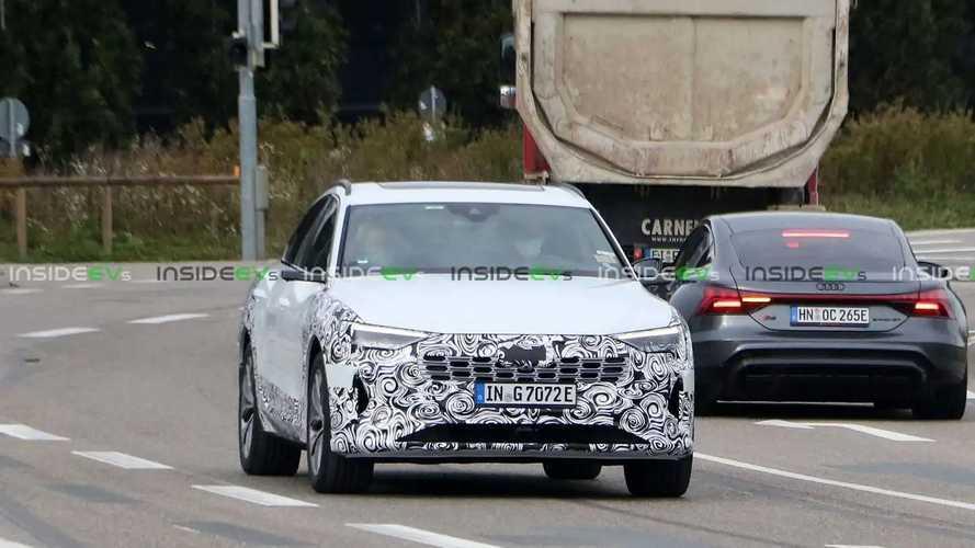 Makyajlı Audi E-Tron Sportback casus fotoğraflar