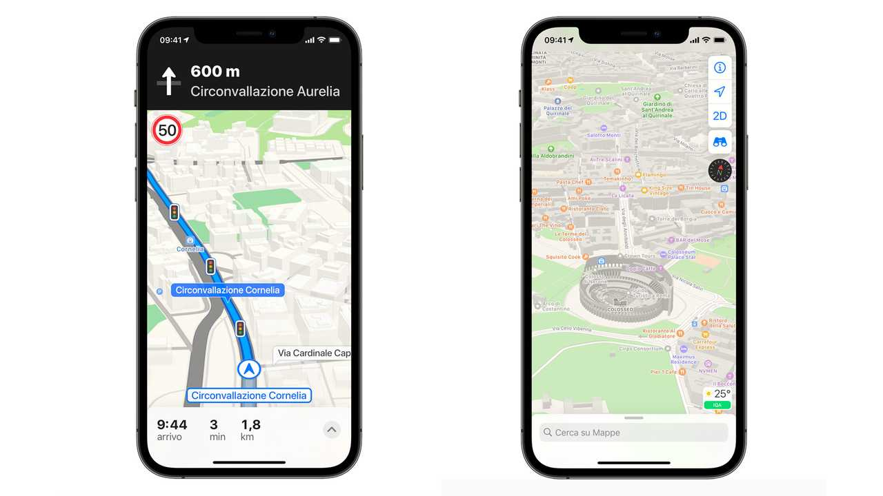 Novità iOS 15 Apple Mappe