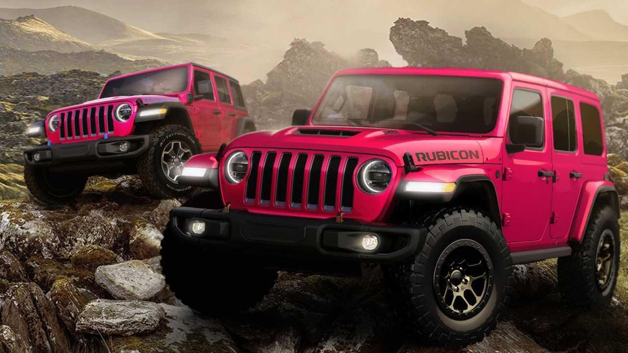 Jeep Wrangler dapat warna pink baru.