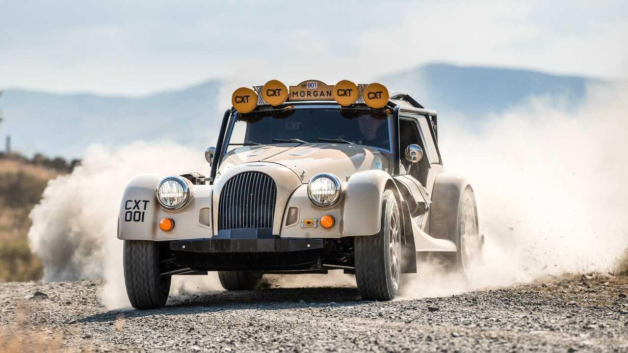 La Morgan Plus Four CX-T in off-road