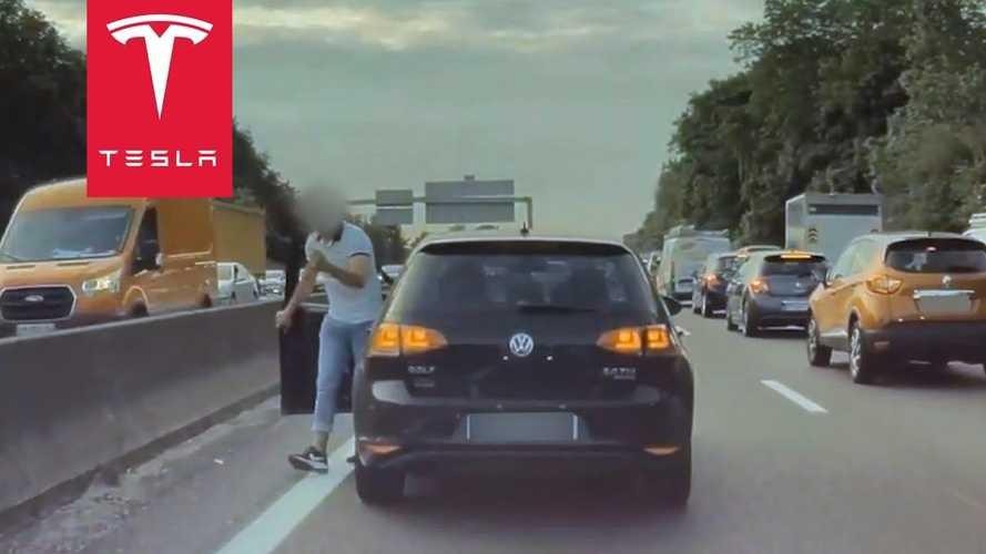 Tesla Model 3 Attacked By VW Golf In Crazy Road-Rage Incident