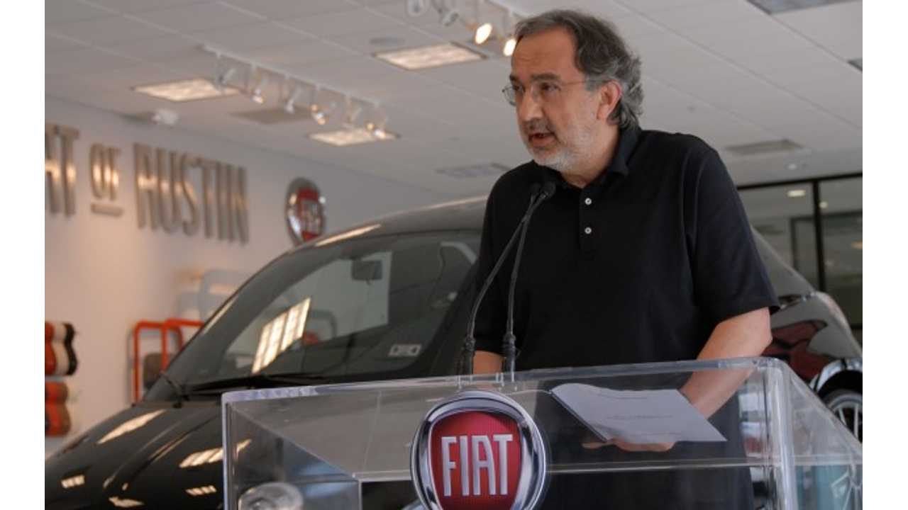 Sergio Marchionne Turns Up Radio To Fill Silence While Driving Tesla Model S (w/video)
