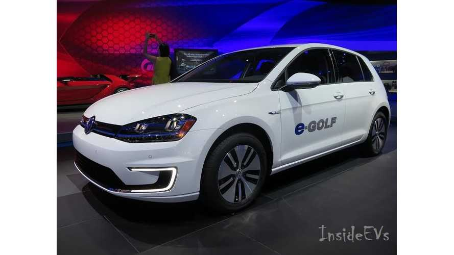 Volkswagen e-Golf - Live Images From 2014 LA Auto Show