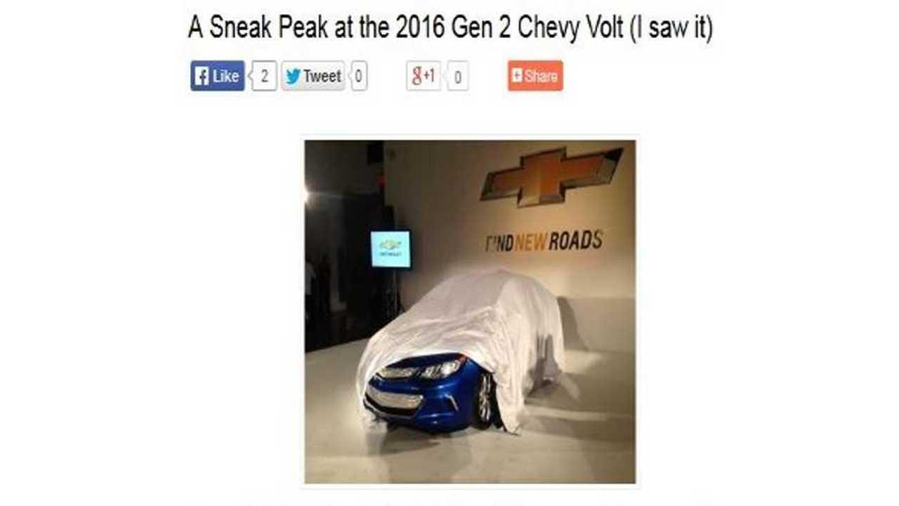 Revealed: 2016 Chevrolet Volt Gets Seating For 5