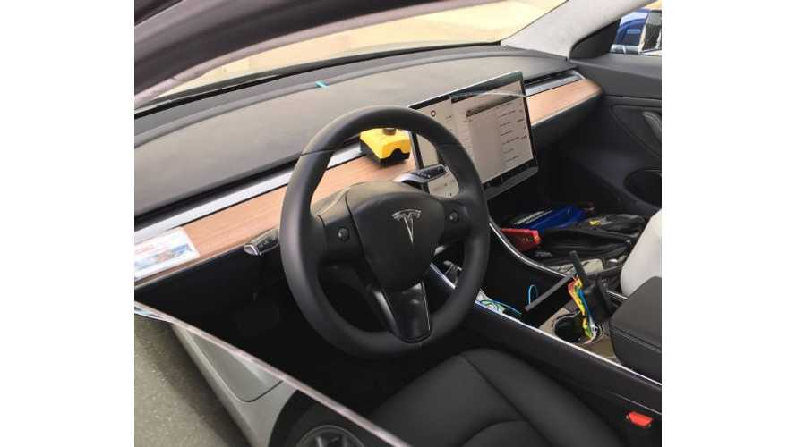 Trio Of Tesla Model 3 EVs Spotted - Interior In Plain View - High-Res Images