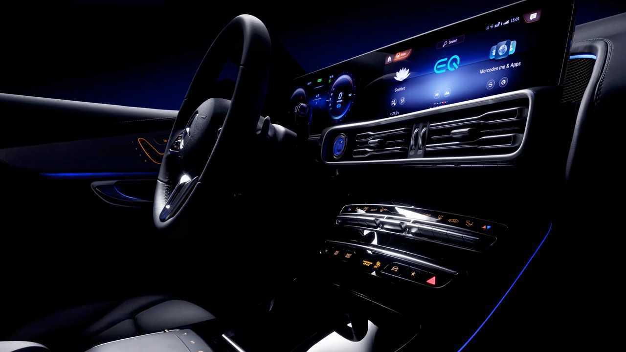 Mercedes-Benz EQC Interior Teaser Shows Extra-Wide Display