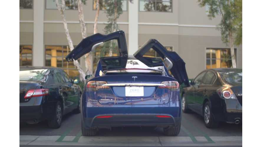 In-Depth Look At Functionality Of Tesla Model X Falcon Wing Doors - Video
