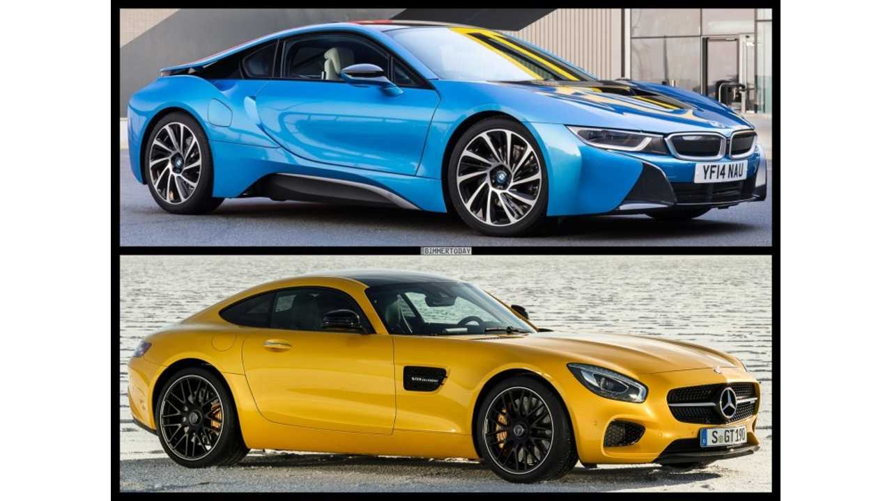 BMW i8 Compared To Mercedces-Benz AMG GT S Coupe - Images