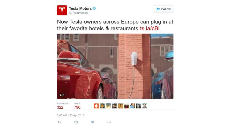 Tesla Launches Destination Charging Program In Europe