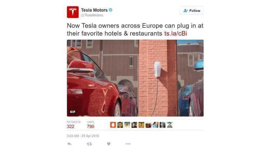 Tesla Launches Destination Charging Program In Europe
