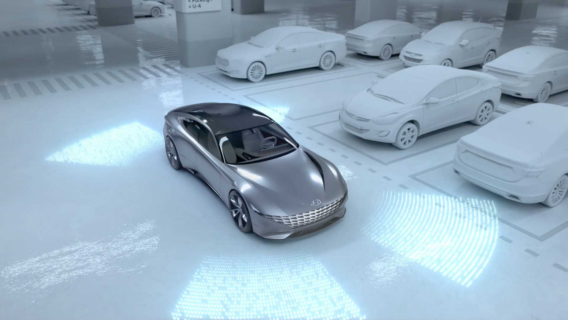 Hyundai-Kia Presents Automated Valet Parking & Charging Concept