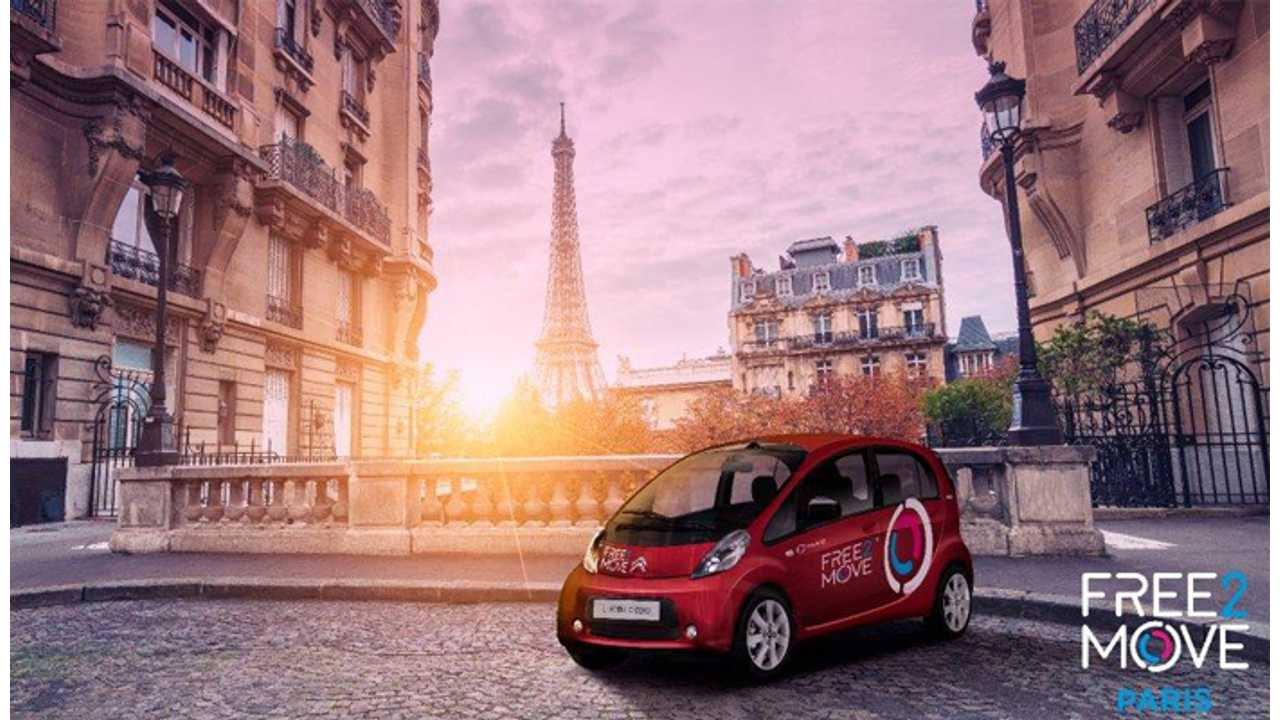 PSA Providing 550 Citroën C-Zero & Peugeot iOn To Free2Move Paris