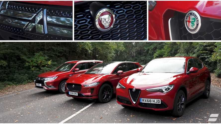 Jaguar I-PACE Vs. Mitsubishi Outlander PHEV Vs. Alfa Stelvio: Video