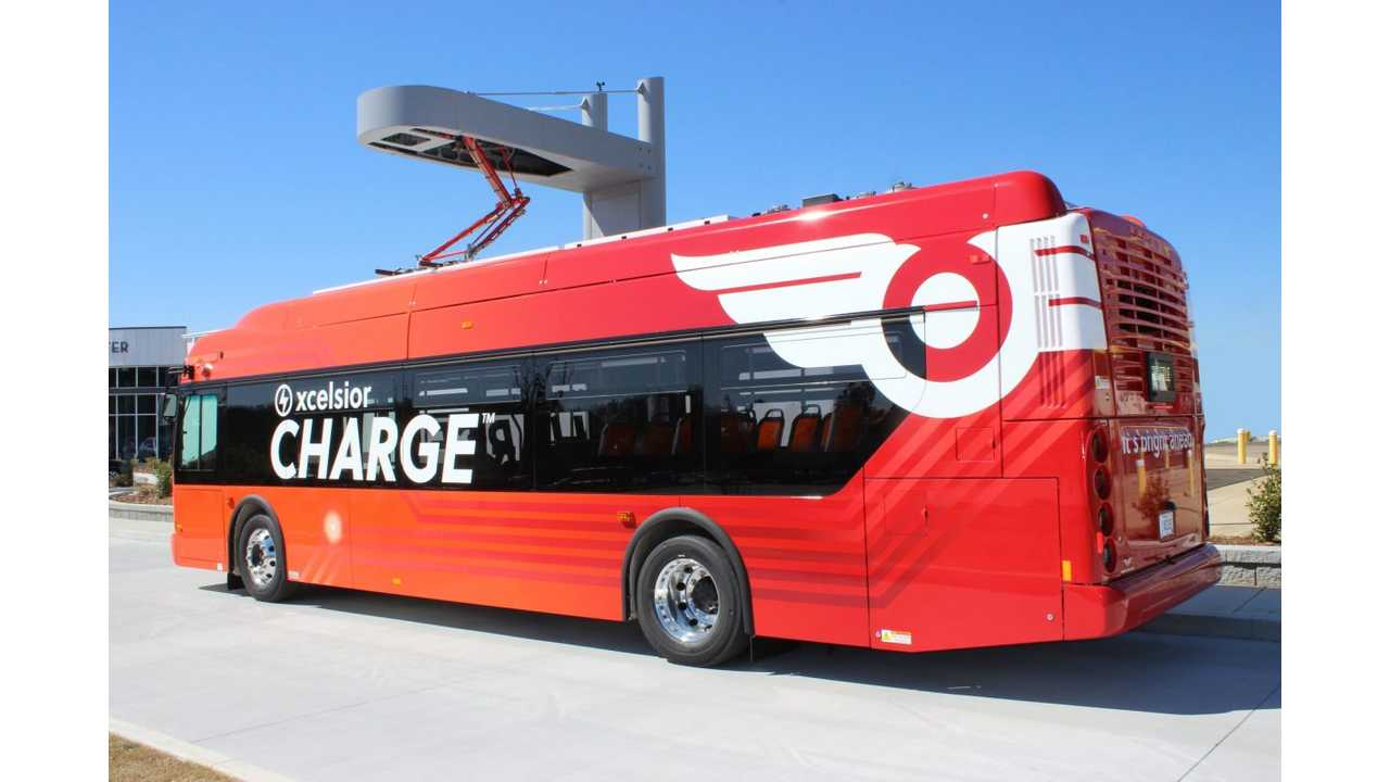 New Flyer Sold 77 Xcelsior CHARGE Electric Buses In California