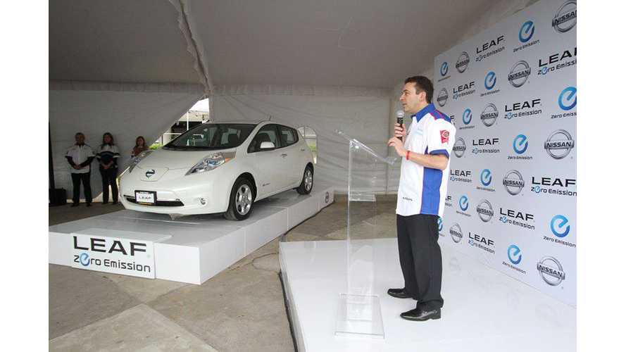 Nissan LEAF Arrives In Mexico
