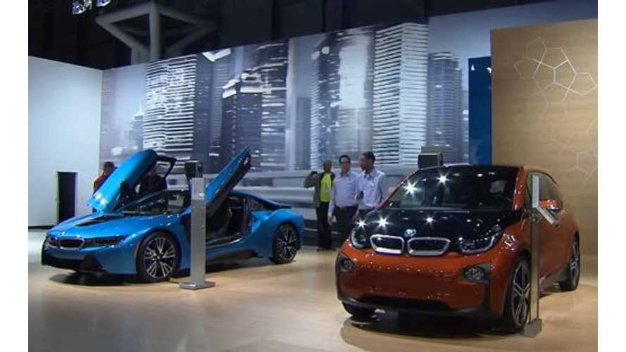 BMW i8 And BMW i3 At 2014 New York Auto Show - Video