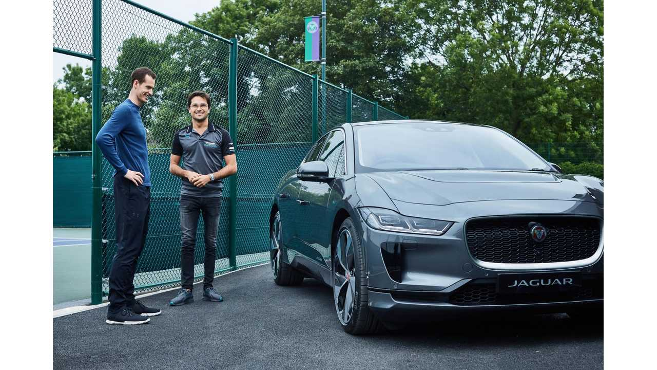 Andy Murray and Jaguar I-PACE