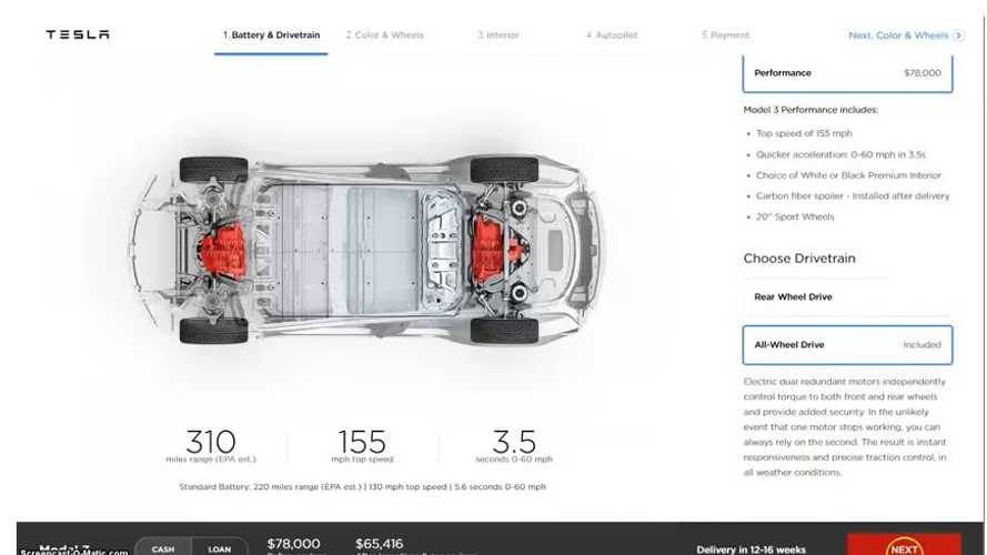 See The Tesla Model 3 Performance / AWD Configurator Here