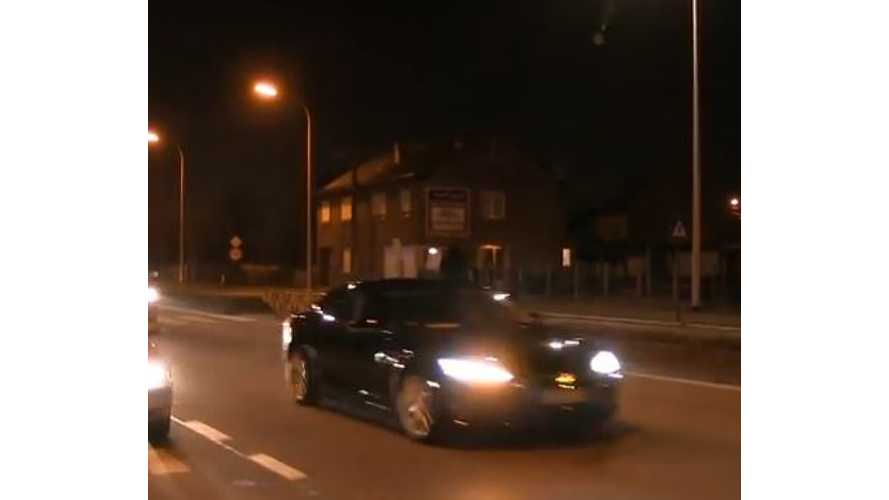 Tesla Model S Part Of Vice President Biden's Motorcade (w/video)