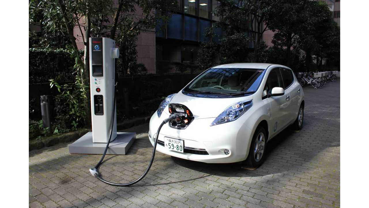 Real Time Video Seriously Of Nissan Leaf Quick Charging During Winter