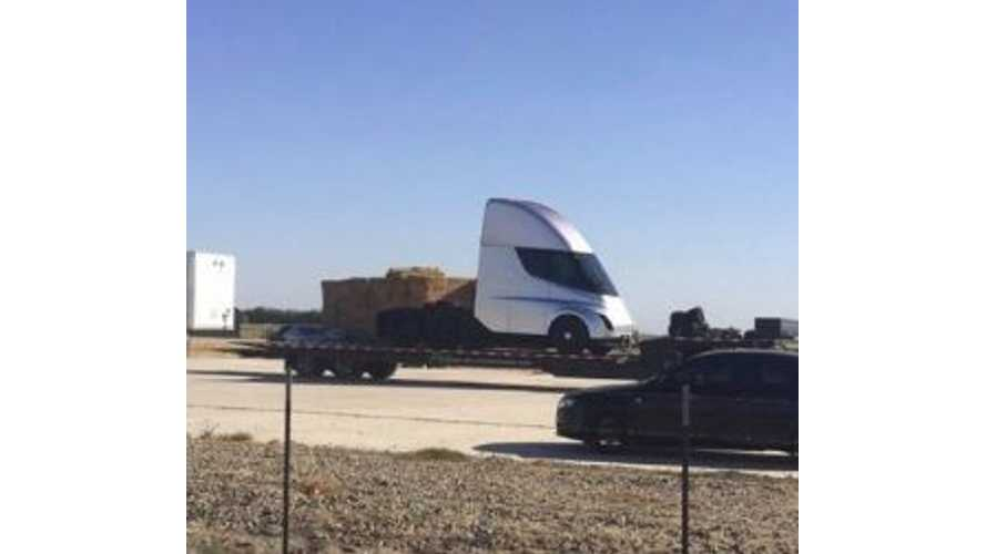 Possible First Image Of Tesla Semi Surfaces