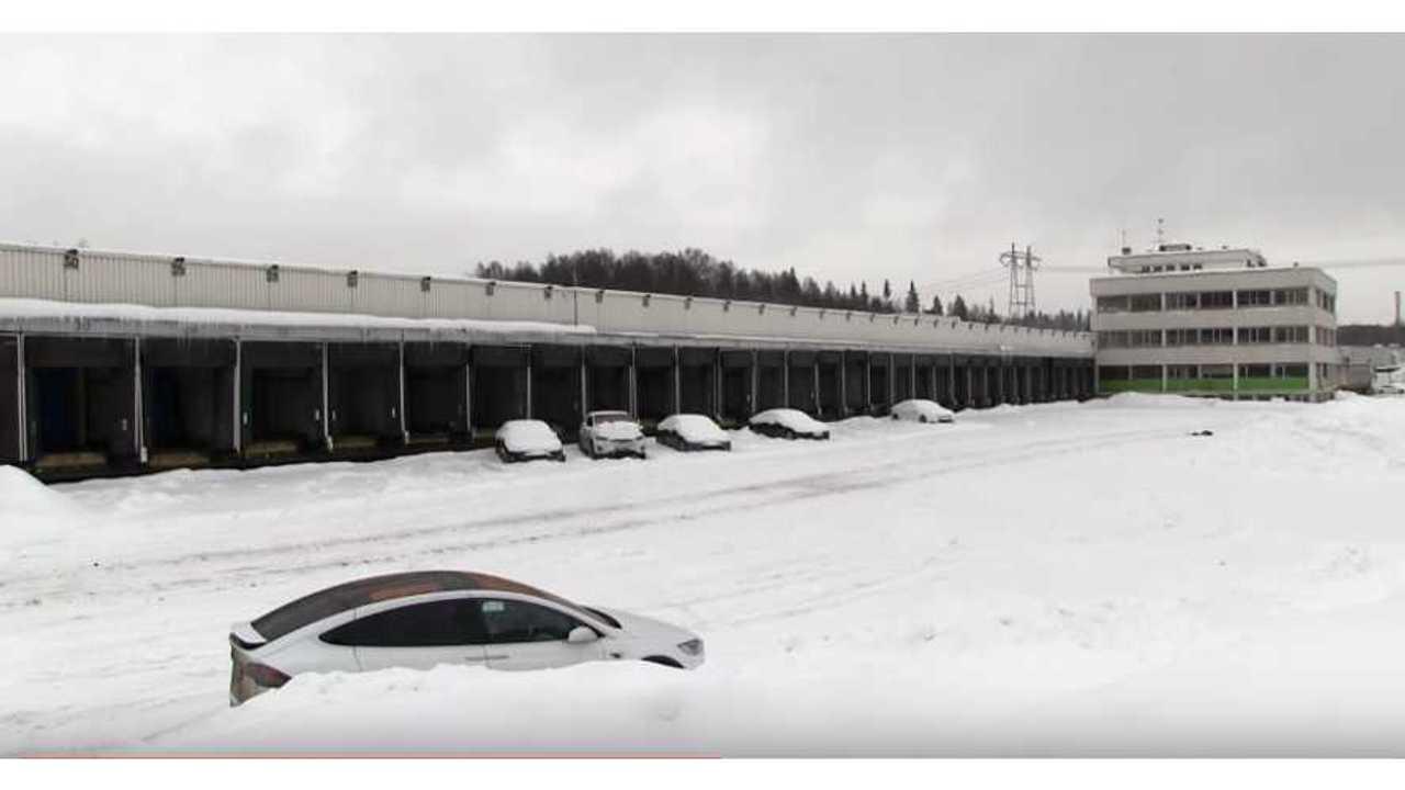 Europe's largest Tesla service center (soon) (source: Bjørn Nyland)